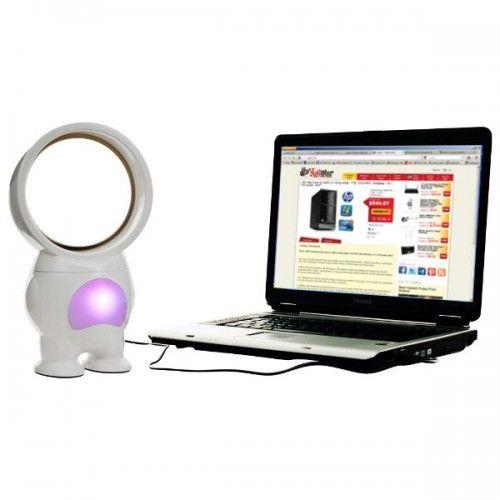 Robo Bladeless Fan with Light - USB Powered