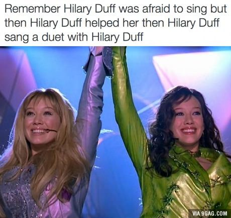 Good times with Hilary Duff