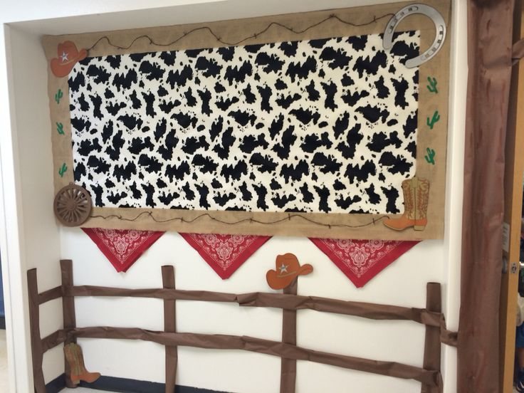 Bulletin board for western theme classroom