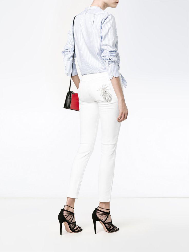 Dolce & Gabbana облегающие джинсы с аппликацией-ананасом