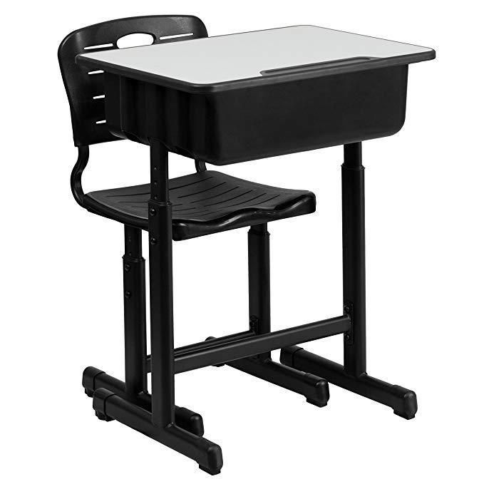 Student Desk Chair Combo Set Adjustable Height Elementary High School Grade New Flashfurniture Desk And Chair Set Flash Furniture Student Desks