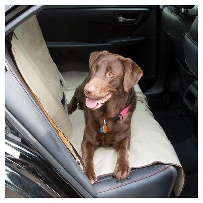Petmaker Durable Waterproof Pet Car Seat Cover, Buff Beige