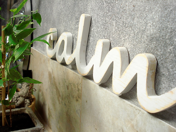 3D letter decoration on an industrial looking wall