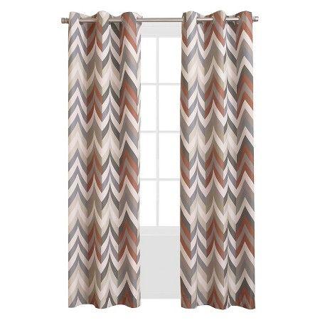 Sun Zero Calen Chevron Printed Thermal Lined Curtain Panel : Target