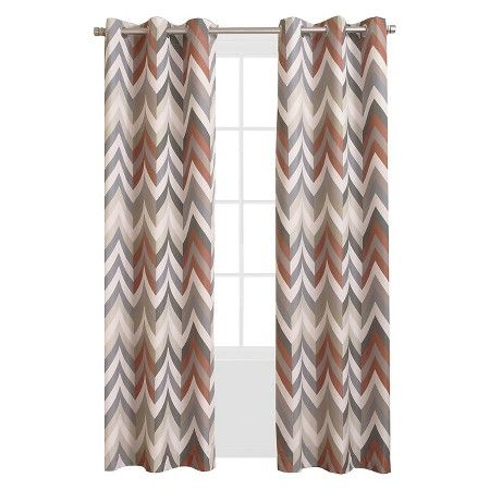 Sun Zero Calen Chevron Printed Thermal Lined Curtain Panel : Target