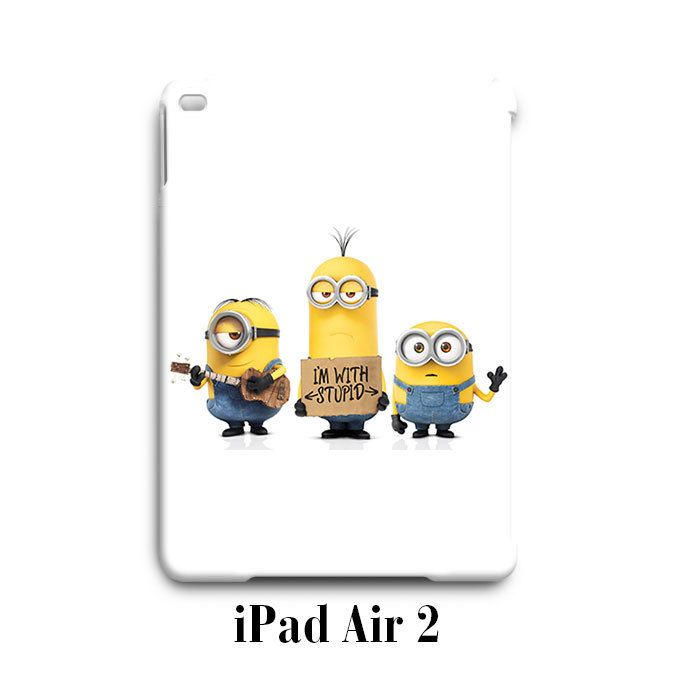 Kevin With Stupid Despicable Me Minion iPad Air 2 Case Cover Wrap Around