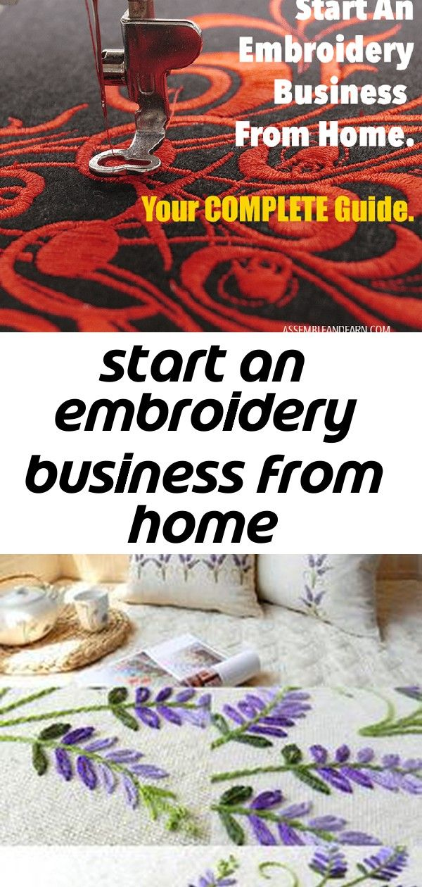 Start An Embroidery Business From Home Crewel Embroidery Kits Embroidery Crewel Embroidery