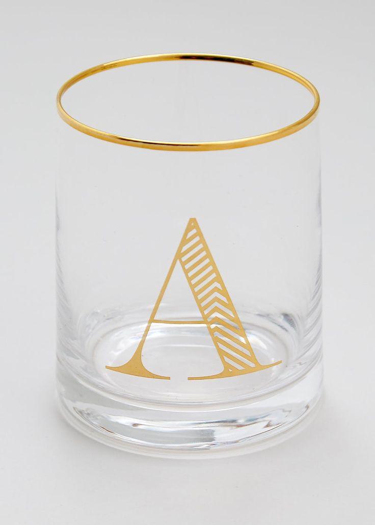 Alphabet Glass (10cm x 8cm)