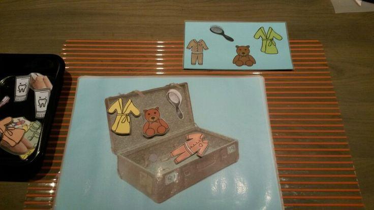 Logeren bij oma en opa : stop de juiste spulletjes (opdrachtkaarten) in de koffer