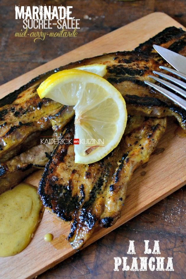 plancha porc recette poitrine de porc la plancha et marinade au curry cuisine grillades. Black Bedroom Furniture Sets. Home Design Ideas
