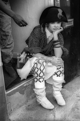 Annabella Lwin Outside The World's End, Kings Road, 1981
