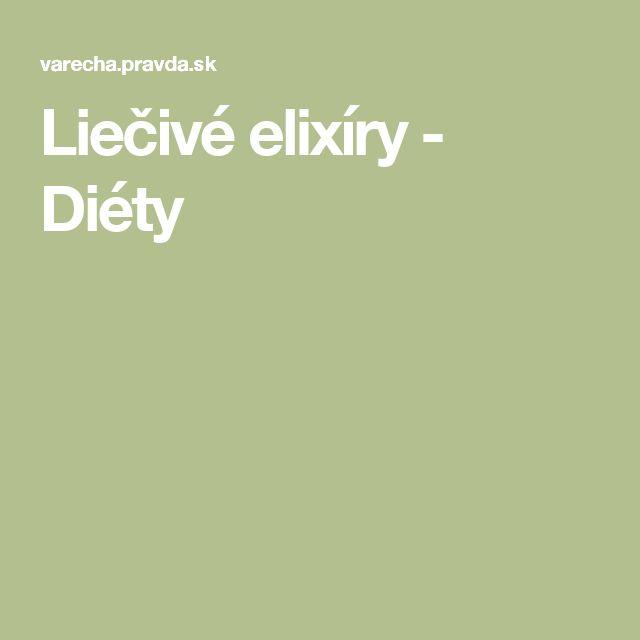Liečivé elixíry - Diéty