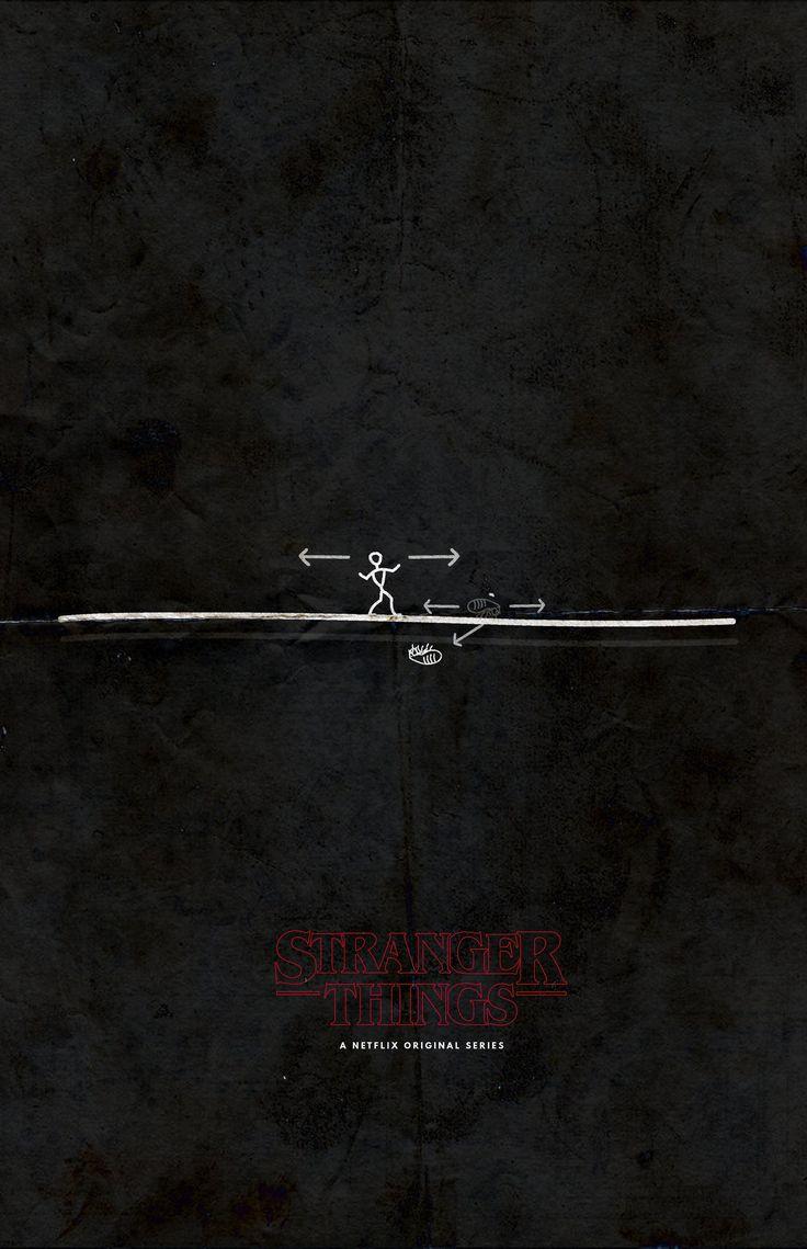 Stranger things minimalistic poster