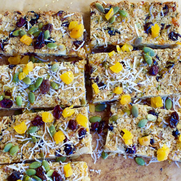 Apricot, Coconut and Pumpkin Seed Oat Slice