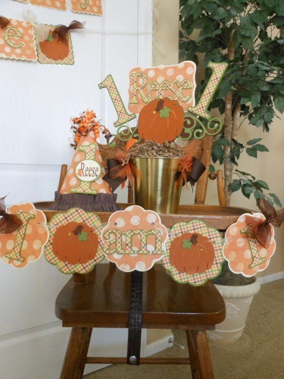 Little Pumpkins Boys 1st Birthday Party by ASweetCelebration, $269.00