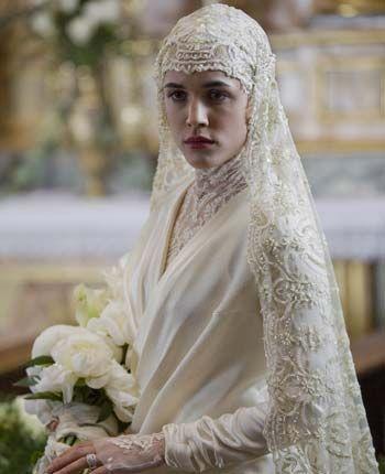 No se trata de una novia musulmana, se trata de un estilo muy usado en los años 20's
