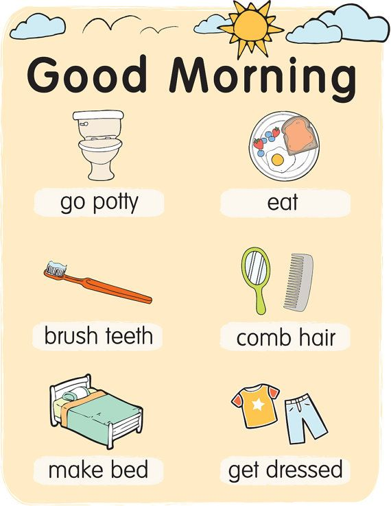 Pre School Morning Routine  Instant Download