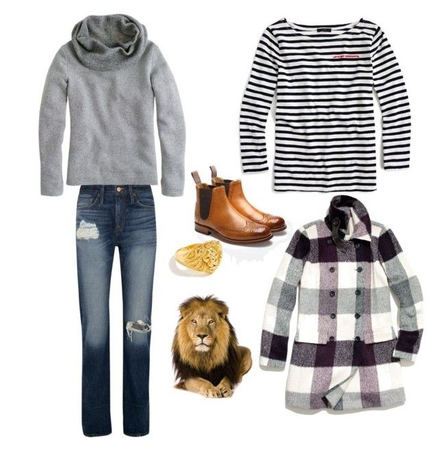 🦁wild at heart ♥️ by strawberryplums on Polyvore featuring polyvore, fashion, style, J.Crew, Madewell, Grenson and clothing