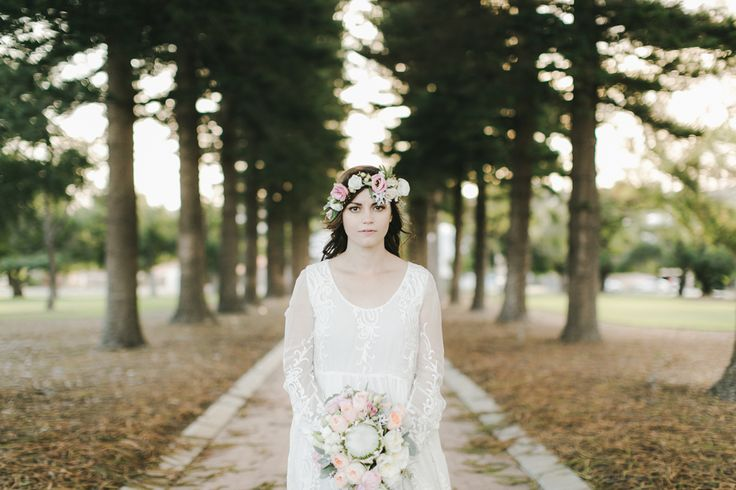 Claudia and her amazing flower crown. || Melissa Mills Photography