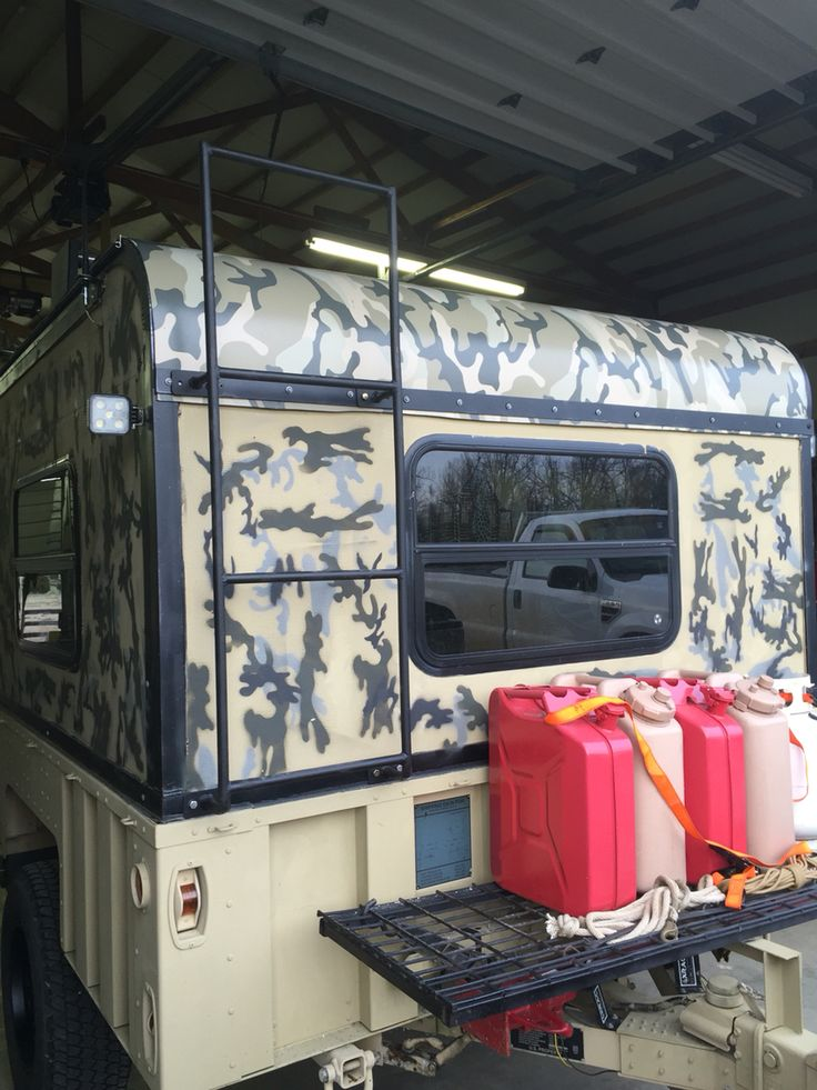 M1101 Camper Build Front Rack Overland Trailer Jeep