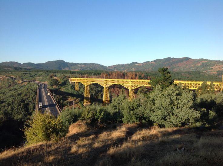 Viaducto del Malleco. Collipulli, Región de la Araucanía