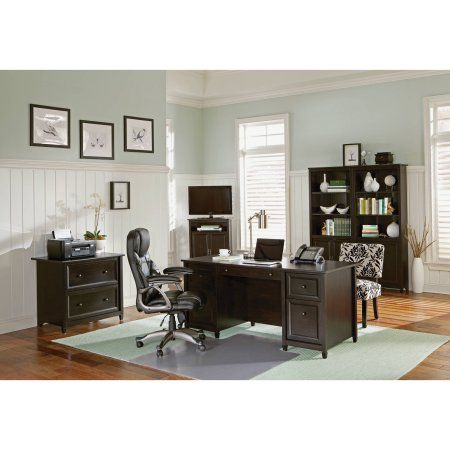 Sauder Edge Water Office Furniture Collection, Black