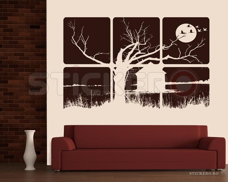 Sticker de perete tablou - Peisaj nocturn