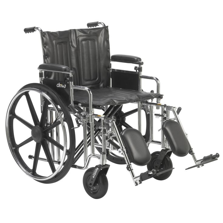 "Drive std20adda-elr Sentra Extra Heavy Duty Wheelchair, Detachable Adjustable Height Desk Arms, Elevating Leg Rests, 20"" Seat"