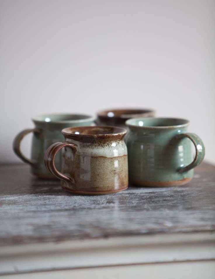 simple rustic mugs....love can be simple