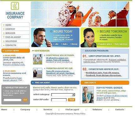 Insurance Company SWiSH Templates by Di
