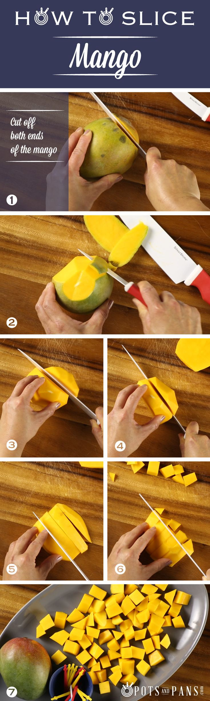 Let's face it, mango isn't the easiest fruit to handle. Click on the image to watch a quick tutorial to learn how to easily slice and dice the tropical fruit.