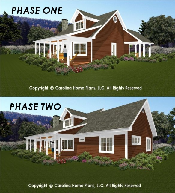 Images Of Expandable 2 Story, Flexible Build In Stages House Plan Easily  Choose A Build In Stages Expandable Open Floor Plan Home With Views.