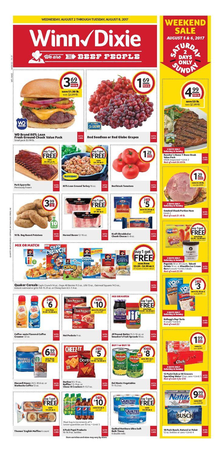 Winn Dixie Weekly Ad August 2 - 8, 2017 - http://www.olcatalog.com/grocery/winn-dixie-weekly-ad.html