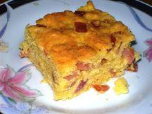 Κέικ με κασέρι και ζαμπόν