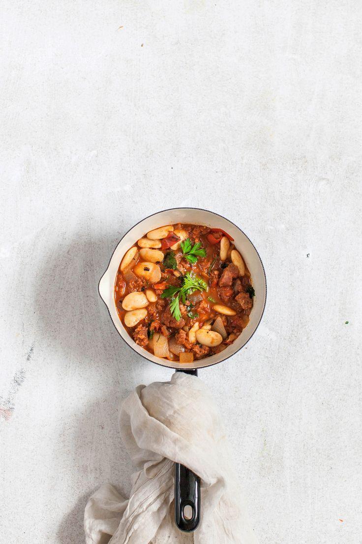 Chorizo and butterbean stew.