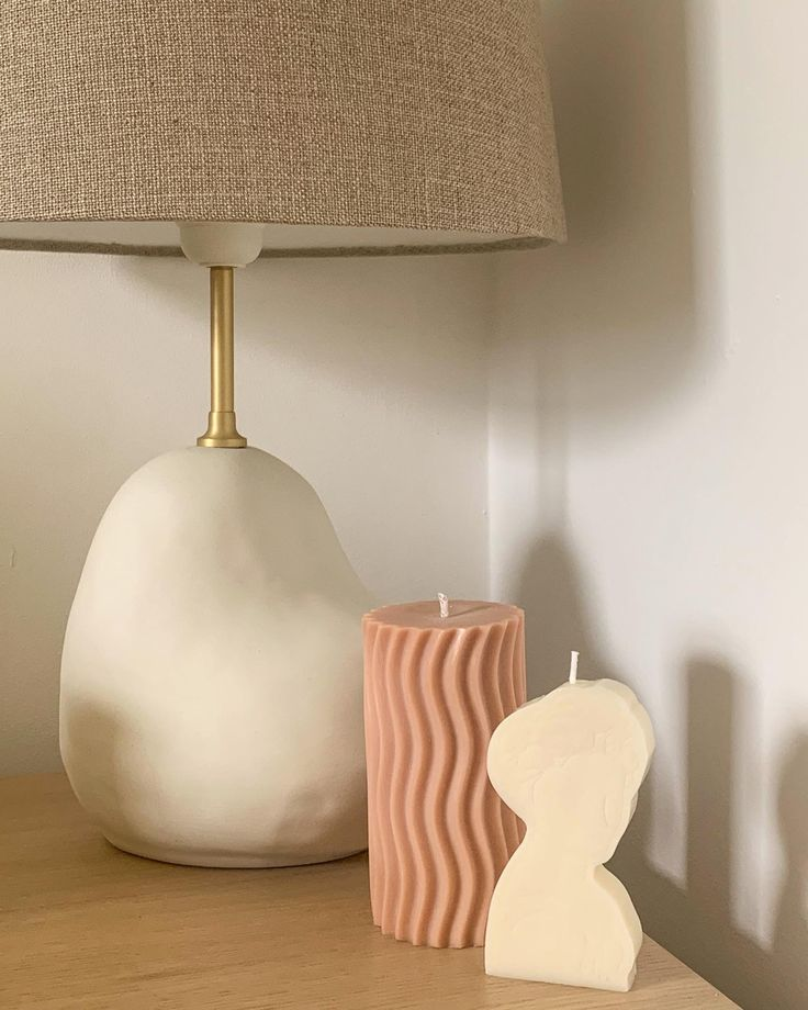 Beige Candles, Soy Wax Candles, Pillar Candles, Beige Aesthetic, Handmade Home, Neutral Tones, Pastel Pink, Danish, Maya