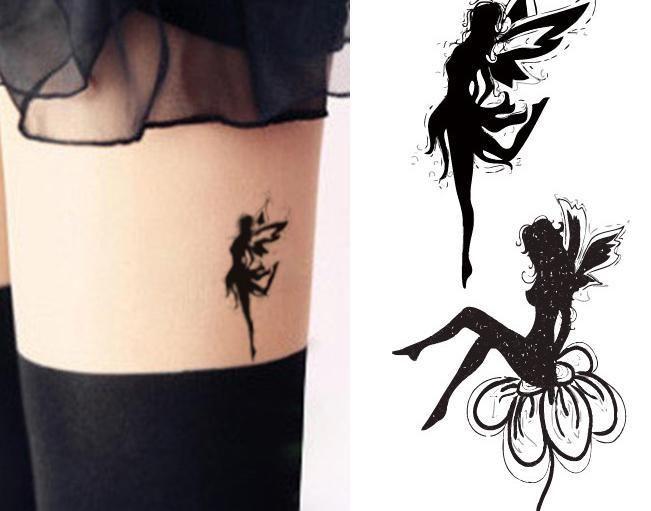 Сексуальный женщины ангел изображение наклейка макияж художественный клуб ну вечеринку косметика маска для лица временный татуировки