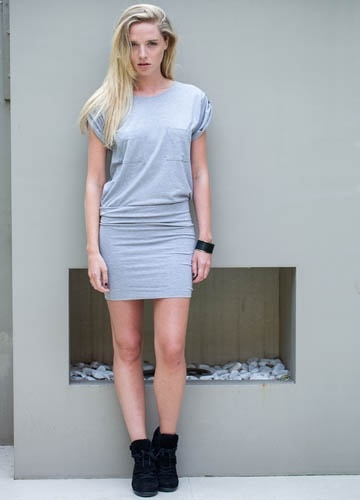 Wellington Dress, Light Grey  Casson London