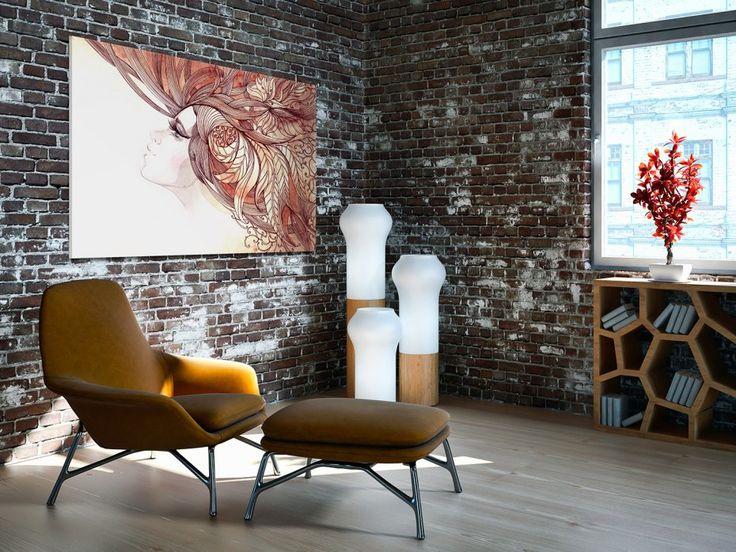 Obraz na płótnie - ABSTRAKCJA KWIATY RETRO - 120x80 cm (21001) (sprzedawca: VAKU-DSGN), do kupienia w DecoBazaar.com