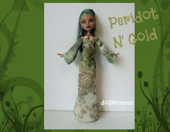 NEFERA Monster High Doll Clothes  Handmade Medieval by DOLLS4EMMA