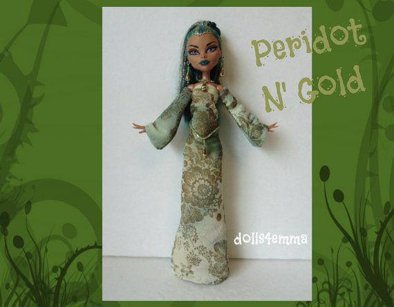 NEFERA Monster High Doll Clothes  Handmade Medieval by DOLLS4EMMA