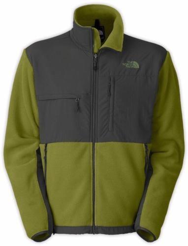 NWT-The-North-Face-Mens-Gripe-Green-Asphalt-Grey-Fleece-Denali-Jacket-SMALL-179