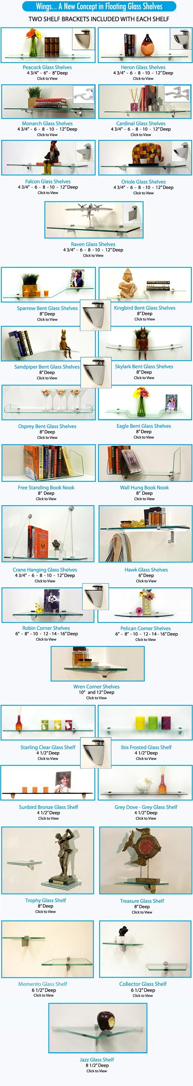 Floating Glass Shelves, Glass Shelving Units & Glass Hanging Wall Shelves