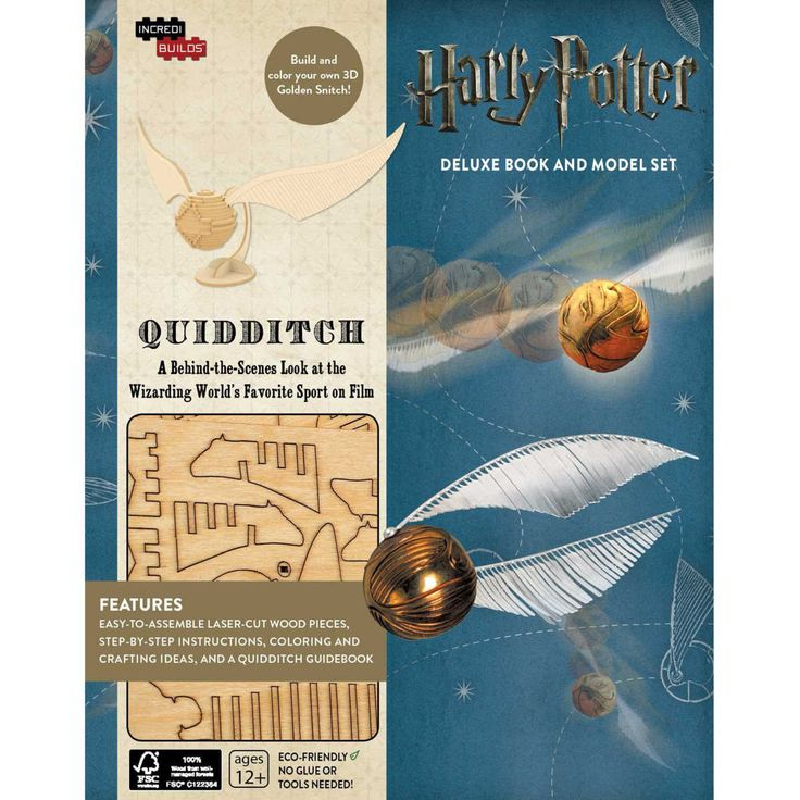 An insider's look at the creation of the wizarding world's favourite sport, complete with a customizable 3D Golden Snitch wood model! Quidditch is beloved by witches and wizards all over the wizarding world. With this deluxe model and book set, get a behind-the-scenes look at how Quidditch was imagined and brought to life for the Harry Potter films - complete with insights from the actors, film making secrets, and thrilling artwork. This must-have package also includes everything you need to…