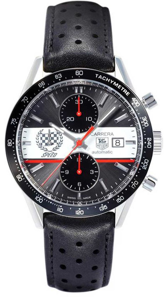 TAG Heuer Carrera Goodwood FOS Limited Edition D #bezel-fixed #bracelet-strap-leather #brand-tag-heuer #buckle-type-deployment #case-material-steel #case-width-41mm #chronograph-yes #date-yes #delivery-timescale-4-7-days #dial-colour-grey #discontinued #gender-mens #limited-edition-yes #luxury #movement-automatic #sale-item-yes #subcat-carrera-goodwood-fos #supplier-model-no-cv201ae-fc6233 #warranty-tag-heuer-official-2-year-manufacturer #water-resistant-100m