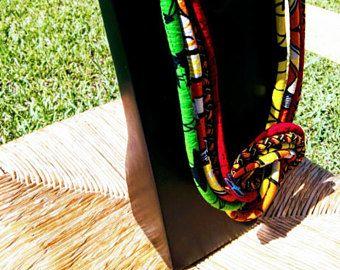 Collier africain longtemps Tribal  collier tressé  collier