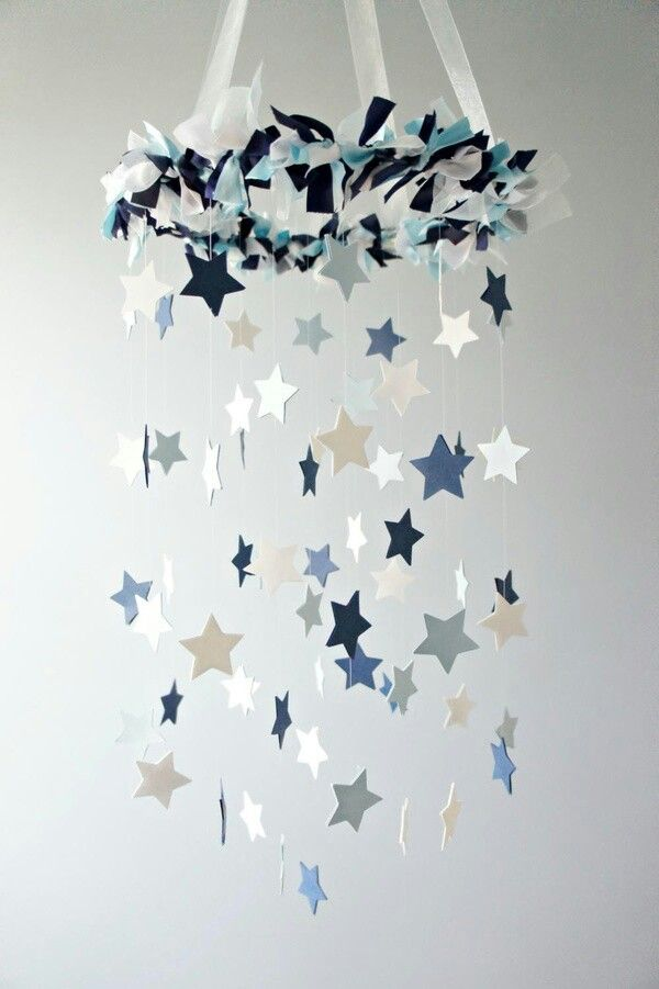 Blue & White Stars Mobile