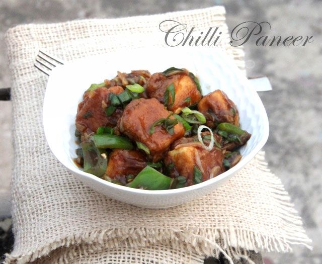 Chilli Paneer Recipe : A restaurant style Chilli Paneer recipe that's quick and easy to prepare. Read on for a recipe with step by step pics.