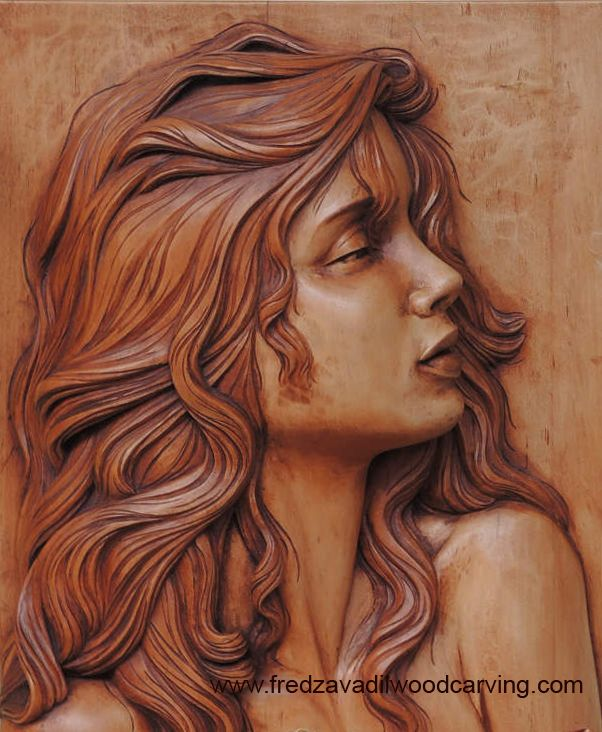 Bas, relief wood carving - Fred Zavadil