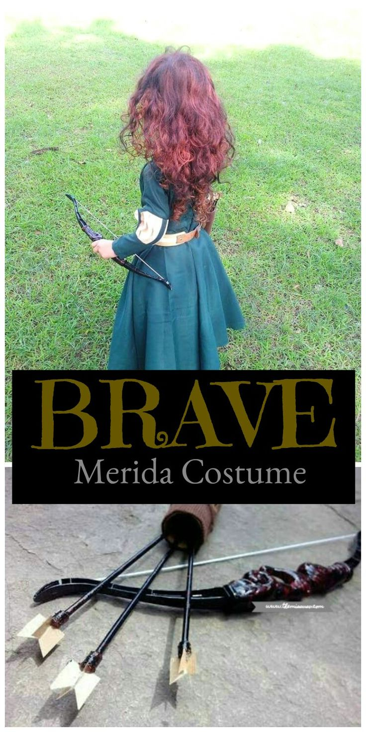 Merida Brave Costume - Dress up your little girl as the princess of Dunbroch!  #Halloween #Costume for Kids